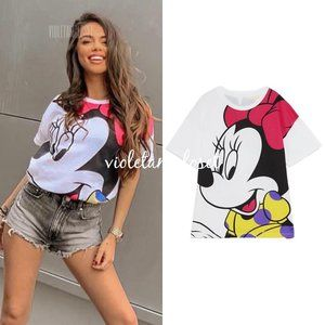ZARA MINNIE MOUSE DISNEY PRINT T-SHIRT